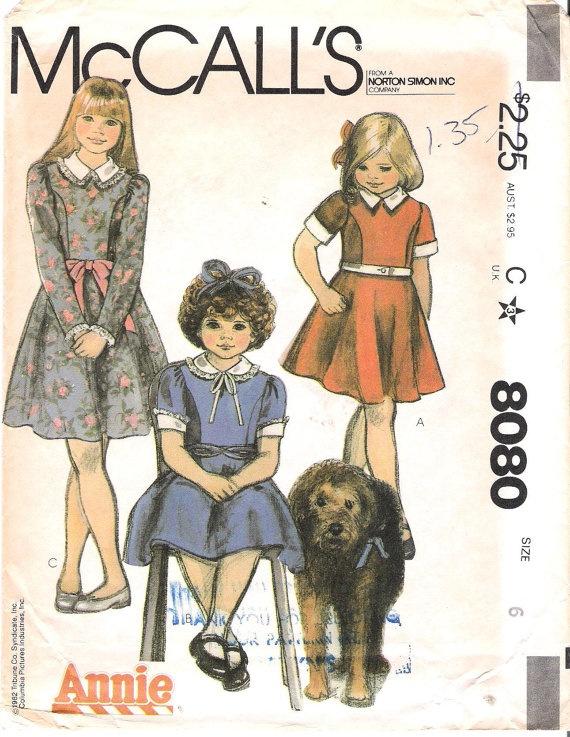 Child s costume children costumes 1980s annie jr annie orphan costume