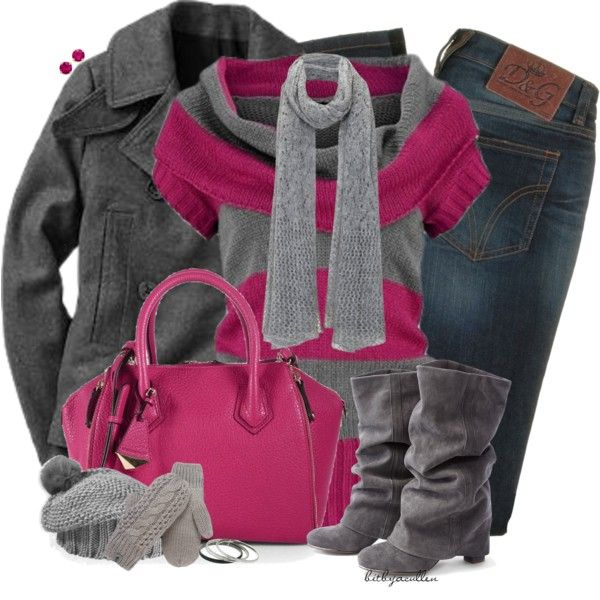 Winter Pink by bitbyacullen on Polyvore featuring Gap, D&G, Rebecca Minkoff, 1928, Kate Spade, Mint Velvet, Pistil and The North Face