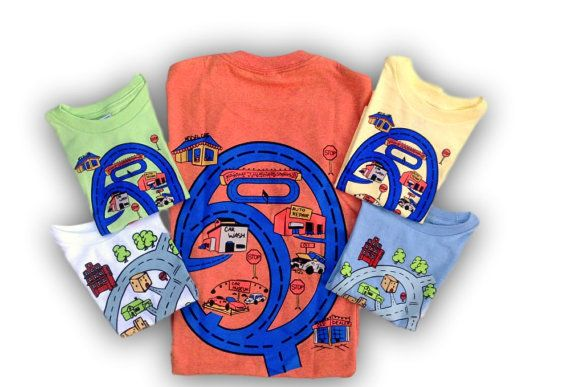 Matching Play Cars T-Shirt for Dads and Sons as by swankyturtle