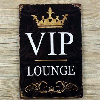 VIP lounge Emaljeskilt - Flot Metalskilt - NiceWall.dk