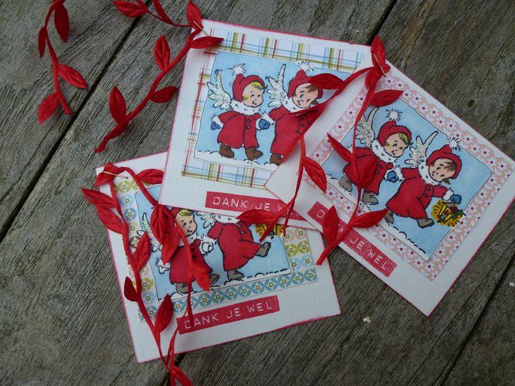 Gestempelde kerstkaart Christmas cards