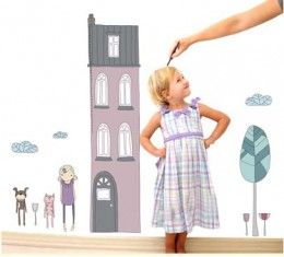Tall House Height Chart wall sticker available at www.kidzdecor.co.za. Free postage throughout South Africa
