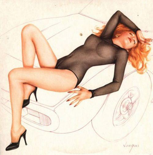 Alberto Vargas artwork for the second Cars album 'Candy O'.
