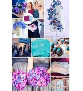 Fotos de Casamento azul turquesa e roxo
