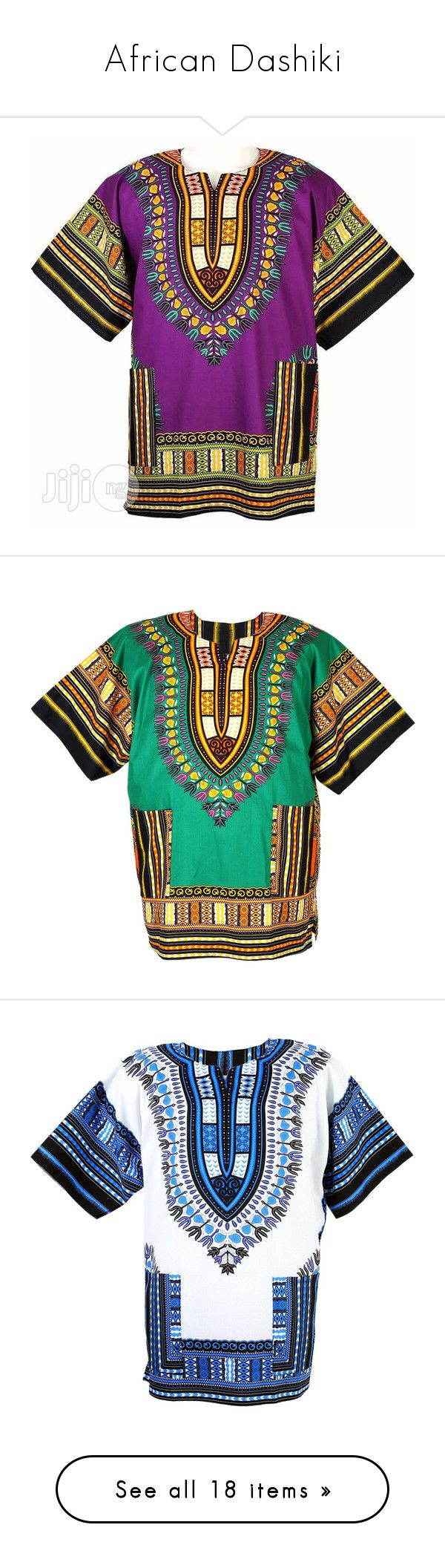 """African Dashiki"" by nasza100 ❤ liked on Polyvore featuring tops, t-shirts, green, shirts, tribal print t shirt, african t shirts, t shirt, tribal shirts, tee-shirt and white poncho"