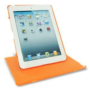 Keydex Slim-Fit Genius Cover with Rotating Stand for iPad - Orange