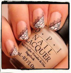 french manicure nail art - Google Search