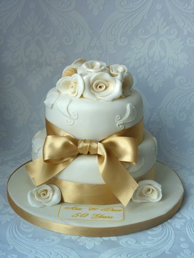 50th anniversary cakes | 50th Golden Wedding Anniversary Cake | Flickr - Photo Sharing!