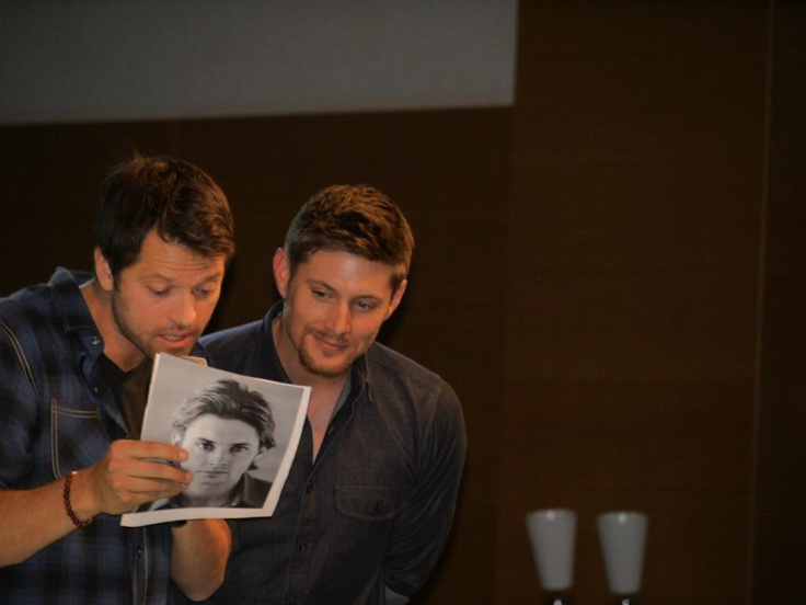 Misha And Jensen Sharing Resumes (and Old Pictures:)
