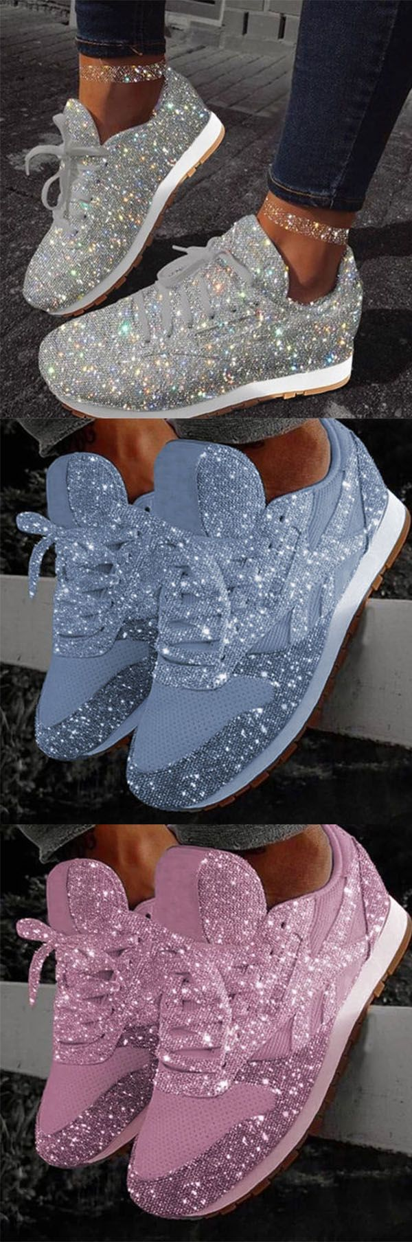 Hot sale! Women Muffin Rhinestone New Crystal Platform Sneakers   – Bling Bling