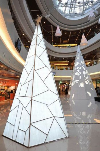 """Christmas Art Installation """"Magical Forest"""" Opens in Xintiandi Mall"""