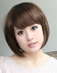 Best Short Hair Images On Pinterest Hair Hairstyle And Plait - Hairstyle for round face asian girl
