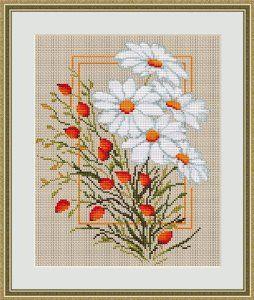 Daisies - cross stitch