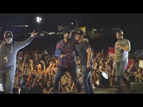 Granger Smith with Luke Bryan at Farm Tour 2016