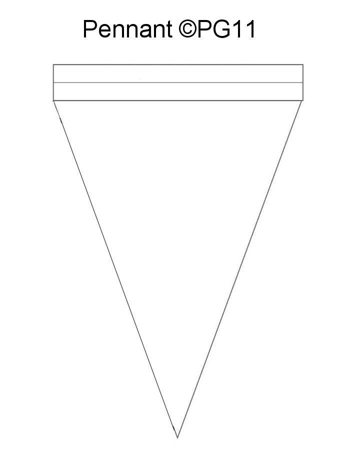 pennant banner pattern