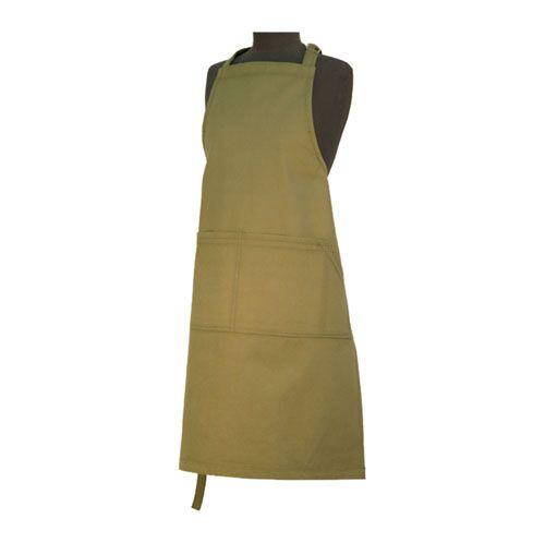 Certified Organic heavy duty cotton apron - Green