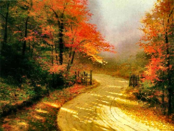 Autumn Lane by Thomas Kinkade Our first kinkade ...