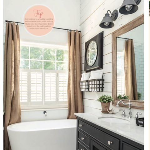 I'm still in complete shock and awe that our home is in the current issue of American Farmhouse Style magazine, which is one of my very favorites! 😍 It's still on newstands, so if you haven't picked up a copy yet, you need to grab one today. You'll find beautiful inspiration for Spring and fun DIY project ideas throughout this issue!  Have a wonderful day! #therusticboxwood #hobbylobby #handmadewithjoann #ascp #shiplap #bathroom #farmhousestyle #bhg #hmhome #marble #white
