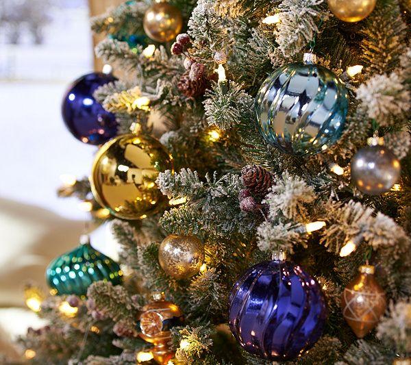 ED On Air Santa's Best 9' Frosted Simon Tree by Ellen DeGeneres — QVC.com