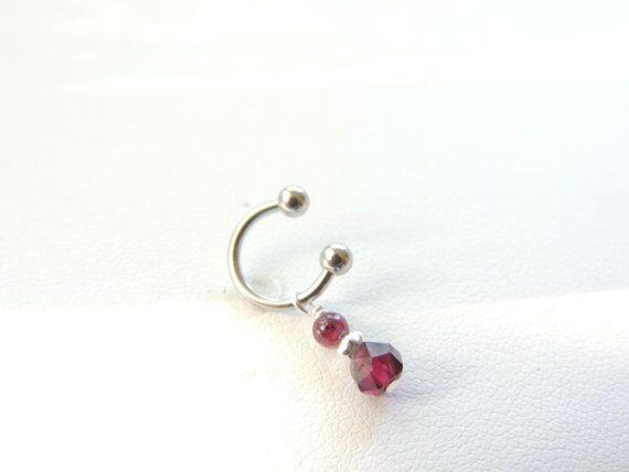 Garnet Rook Piercing You Choose Style by SeductiveBodyWorks, $12.00