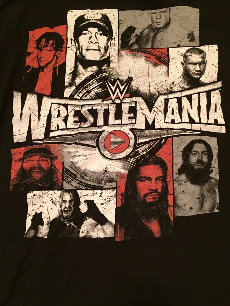 Wrestlemania 31 T-Shirt WWE L Large Seth Rollins Bray Wyatt John Cena WWF NXT - https://bestsellerlist.co.uk/wrestlemania-31-t-shirt-wwe-l-large-seth-rollins-bray-wyatt-john-cena-wwf-nxt/