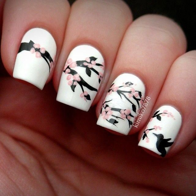 Weddbook is a content discovery engine mostly specialized on wedding concept. You can collect images, videos or articles you discovered  organize them, add your own ideas to your collections and share with other people | Cherry blossom nails #asian