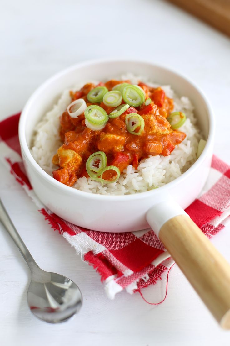 Pittige paprika curry met kip