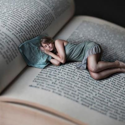 She often fell asleep in the middle of a book :)