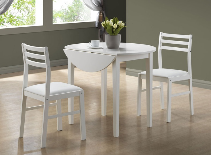 White 3 Piece Dining Set With 36