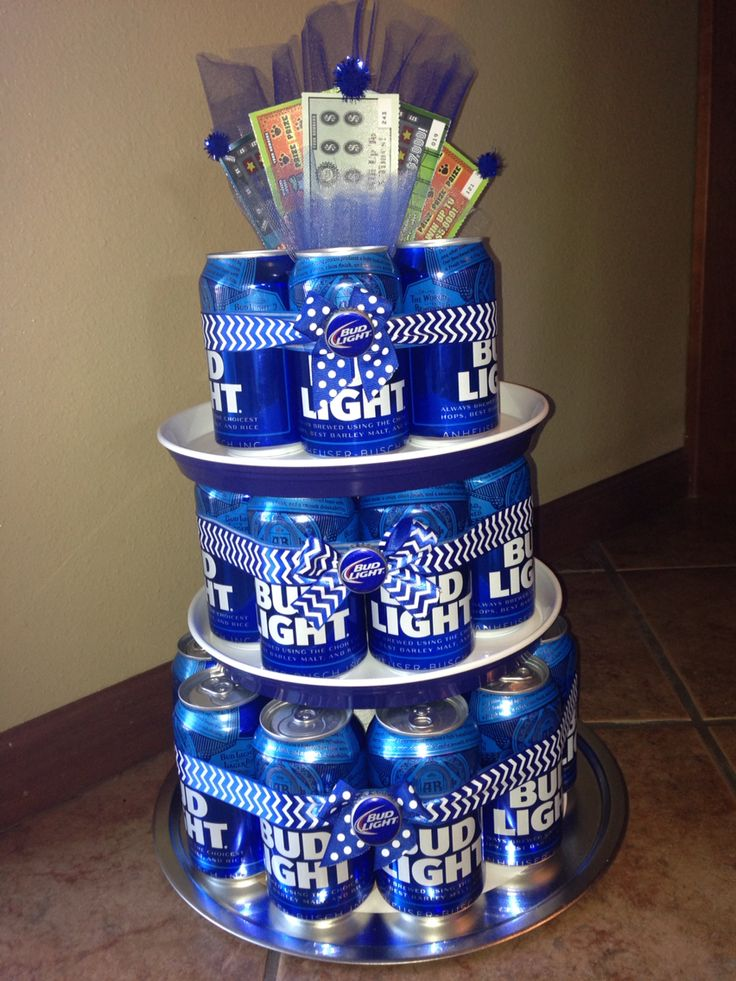 Bud Light beer can cake! Great gifts for dads/guys in general!