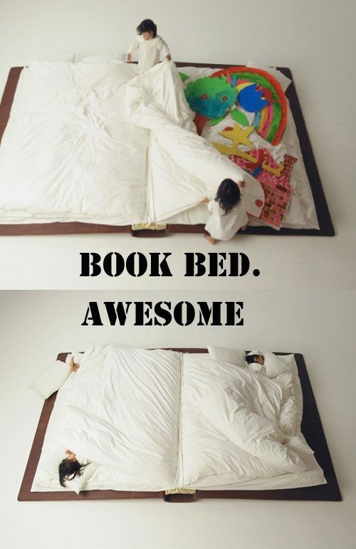 BOOOOK BED: Bookish Living, Books Things, Kids Beds, Books Beds, Bedrooms Design, Awesome Books, Sleepover Parties, Bedrooms Ideas, Beds Reading