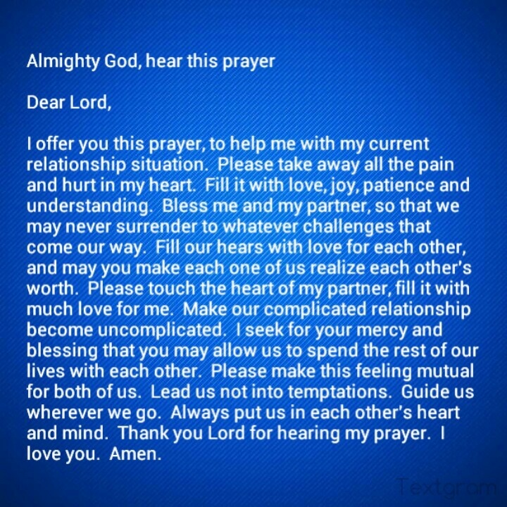 prayer for love and happiness in a relationship