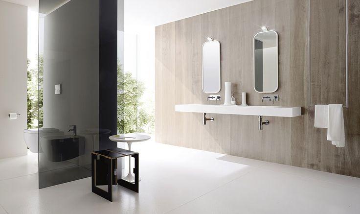 Lavabi bagno freestanding o sospesi, Vasca ovale con vani libreria ...