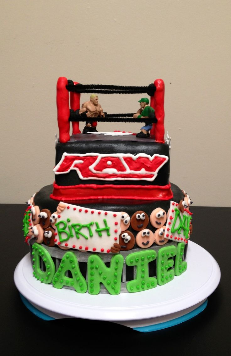 Wrestling Cake Kids Bday Party Ideas Pinterest