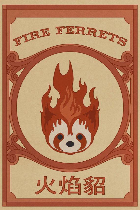 Fuego hurones cartel flexión Pro  Legend of Knorra por dvanderbleek