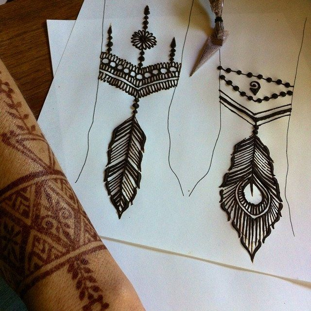 Feather Henna Tattoo Designs: 137 Best Henna On Paper Images On Pinterest