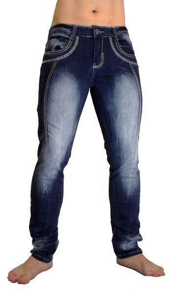 Джинсы мужские с прямыми карманами