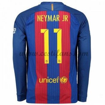 Barcelona Fotbalové Dresy 2016-17 Neymar Jr 11 Domáci Dres Dlouhým Rukávem