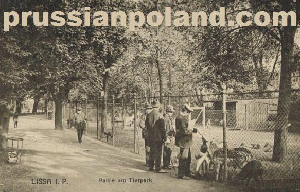 Lissa, Posen, Prussia -- Partie am Tierpark