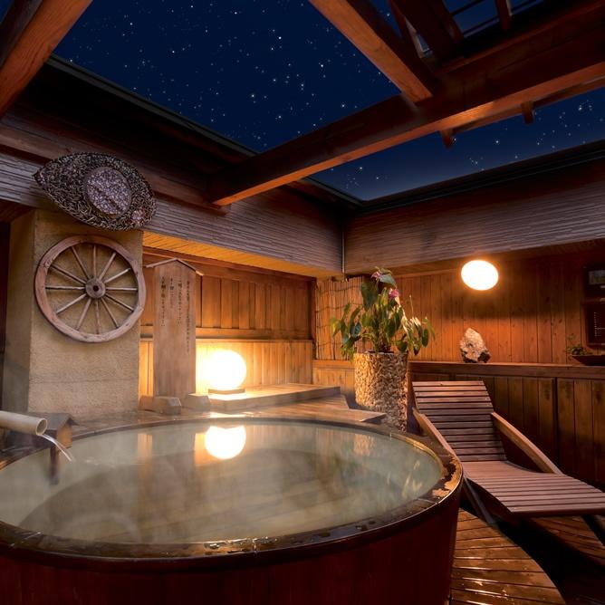 "Onsen (hot spring bath) in 'Ryokan' style accommodation ""Saito"" (Iwate, Japan)"