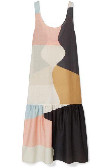 fd4357464a Mara Hoffman | Valentina color-block organic cotton-voile maxi dress |  NET-A-PORTER.COM