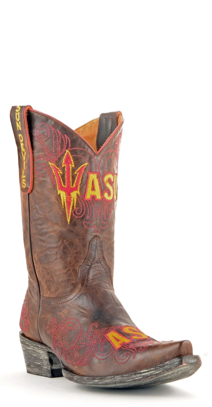 Gameday Arizona State Ladies Leather Boots - Brass
