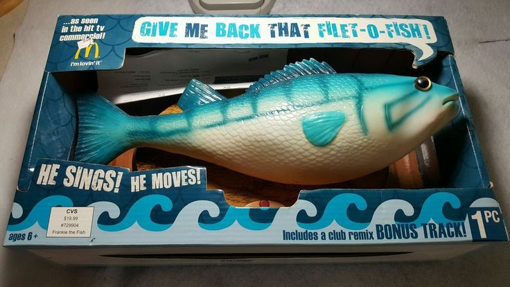 Give Me Back That Filet-O-fish 2009 singing fish #GEMMY