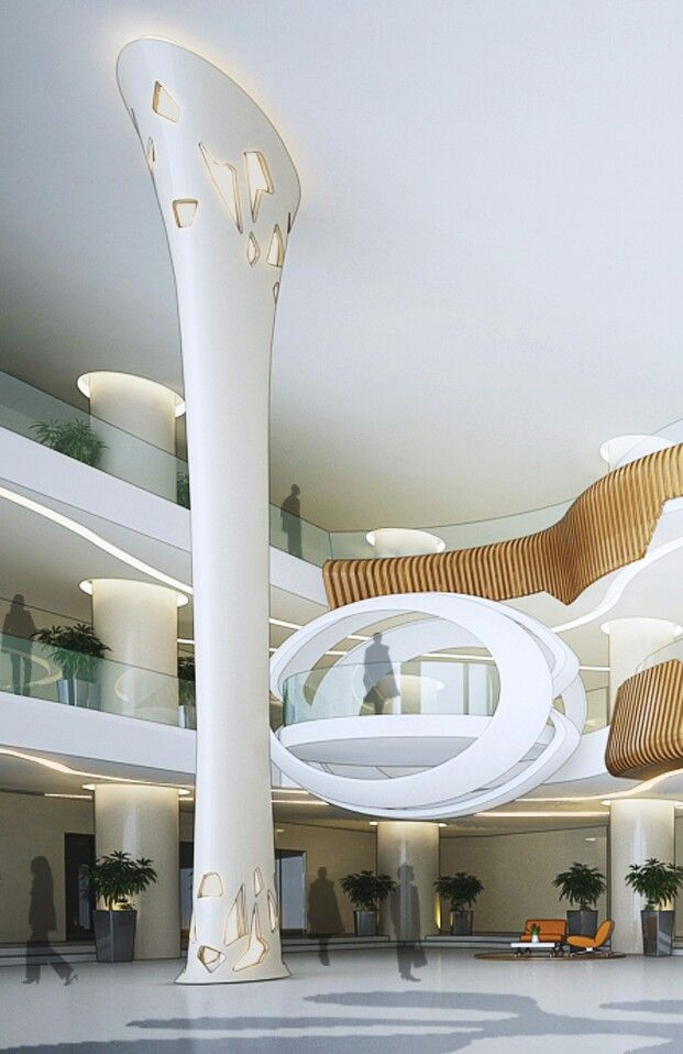 spectacular contemporary columns. Atrium design at wangsa maju  K lumpur 108 best C O L U M N S images on Pinterest Design interiors Home