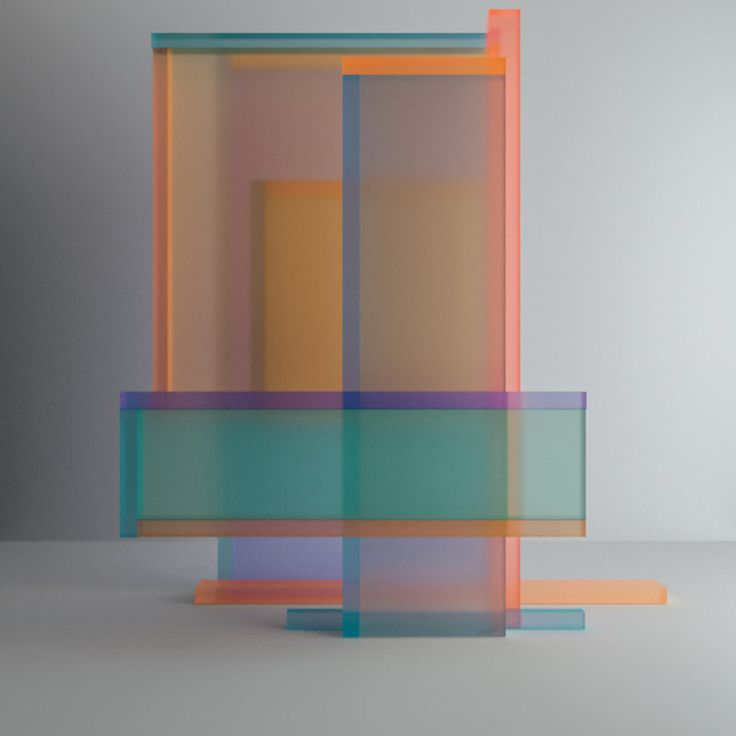 Taking inspiration from Josef Albers, digital artist Leonardo Betti of Leonardoworx created a series of abstract numbers made from colorful plexiglass.