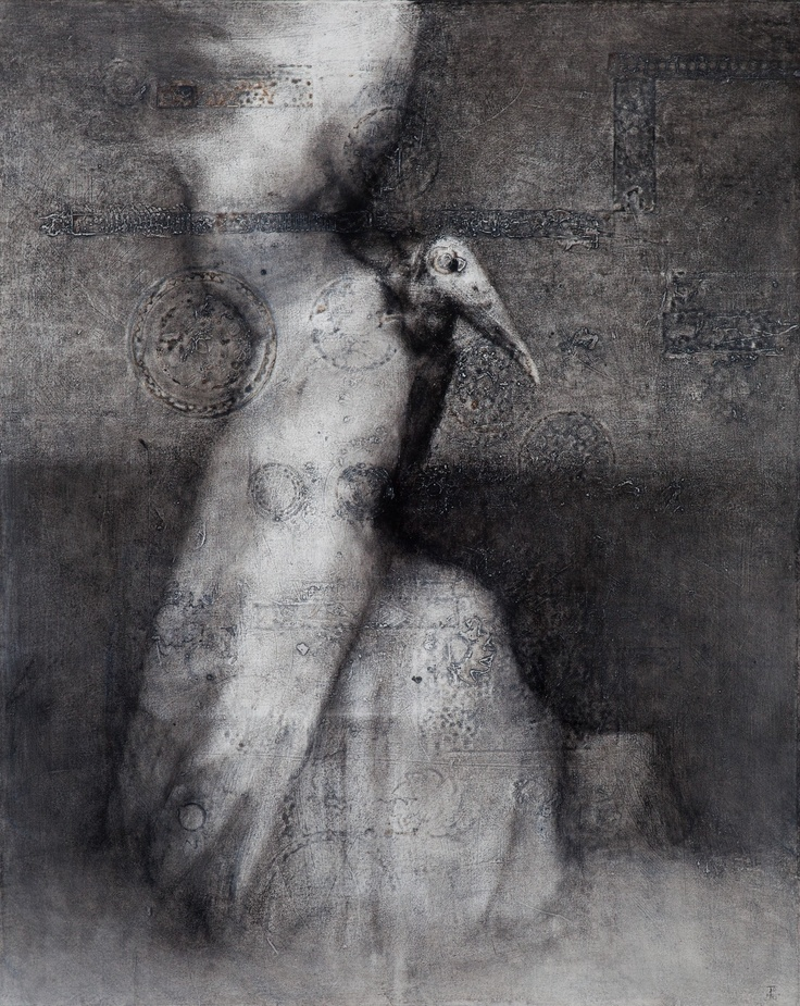 Timo Sälekivi(Finnish,b.1969)/  (Ilmestyminen / Appearance   2011)/  (Akryyli kankaalle / Acrylic on canvas)