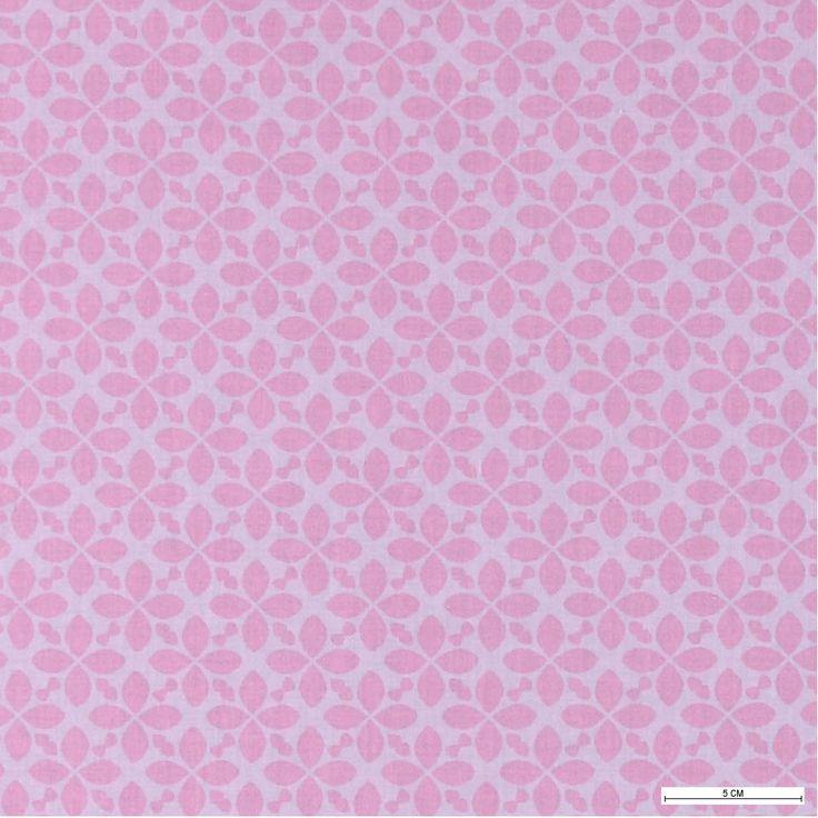 815656 Bomull rosa m mørk rosa mønster