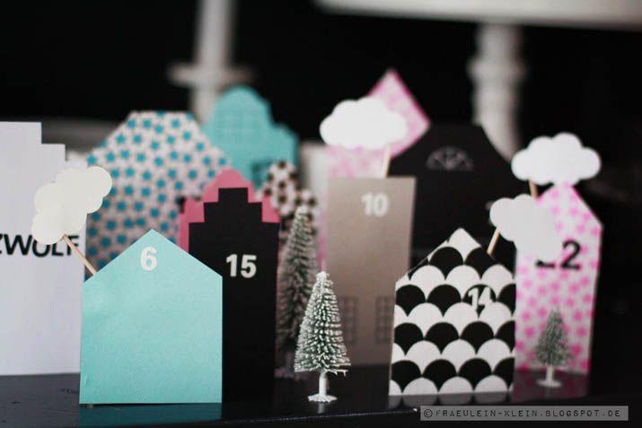 cute advent calendar town -  süße Adventskalender stadt von Fräulein Klein