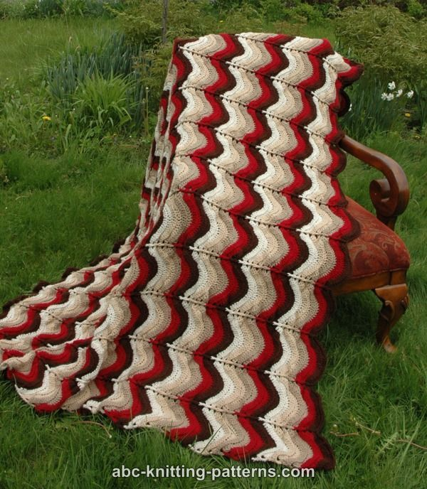 ABC Knitting Patterns - Carnival Bunting Ripple Afghan