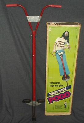 The pic looks like jumping Jesus on a pogo stick! lol Pogo sticks were so much fun...until you missed and hit your chin on the metal bar. O_o